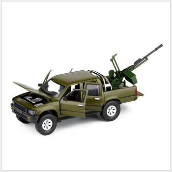 1:32 Hailax pickup truck model,alloy simulation sound and light toys,armed chariot,free shipping