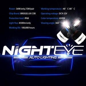 Image 5 - NIGHTEYE 2Pcs H4 LED H7 H11 H8 H9 9006 HB4 H1 9005 HB3 Auto Lampadine Del Faro HA CONDOTTO la Lampada con di Chip COB 9000LM Auto Nebbia Luci 6500