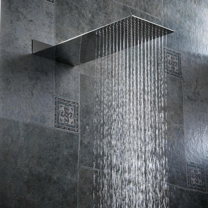 BECOLA Душевая насадка для ванной комнаты давление в стену Скрытая душевая головка ультра тонкая нержавеющая сталь душевая головка