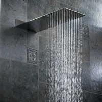 Becola chuveiro do banheiro bocal de pressão na parede escondida cabeça de chuveiro ultra fino aço inoxidável