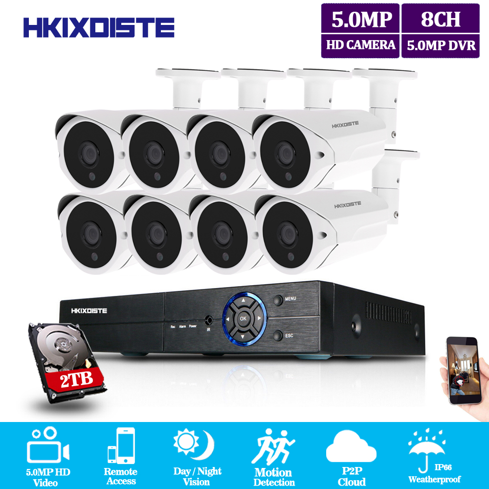 HKIXDISTE 5mp CCTV Surveillance Kit 5mp Security Camera System 8ch DVR 2560x1920 Video Output Kit CCTV Easy Remote View on PhoneHKIXDISTE 5mp CCTV Surveillance Kit 5mp Security Camera System 8ch DVR 2560x1920 Video Output Kit CCTV Easy Remote View on Phone