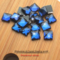 14mm 30pcs/lot accessories square crystal flat paste glass beads Fashion decoration clothing accessories ,DIY