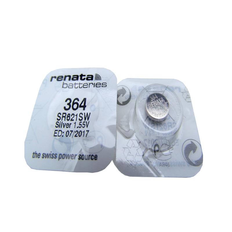 5 pçs/lote Suíço Renata Bateria 1.55V Para Baterias de Relógio de Óxido De Prata 364 SR621SW