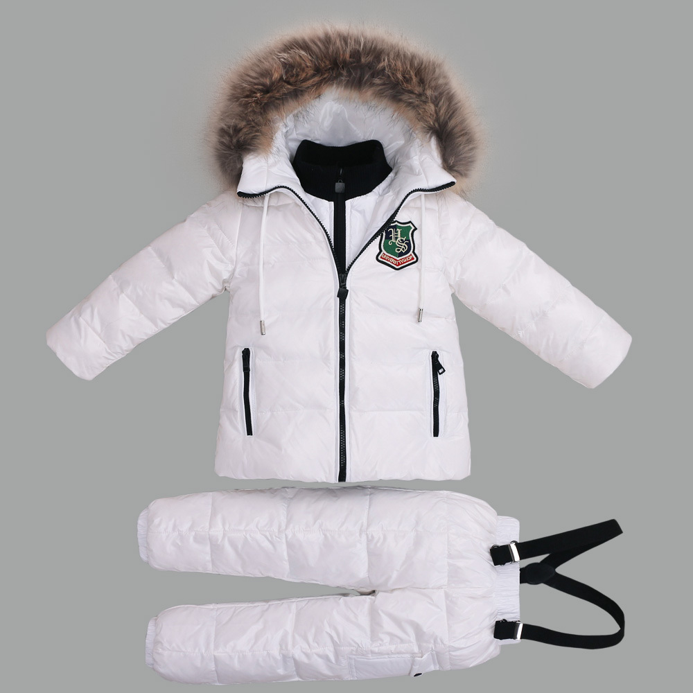 -30 Degree Russian Warm Children Winter Suits Boys Girl Duck Down Jacket +Pants Clothing Sets Kids clothes Snow Wear Top Quality-30 Degree Russian Warm Children Winter Suits Boys Girl Duck Down Jacket +Pants Clothing Sets Kids clothes Snow Wear Top Quality