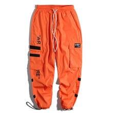 afba147bae Men's Side Pockets Cargo Harem Pants 2018 Hip Hop Casual Male Tatical  Joggers Trousers Fashion Casual