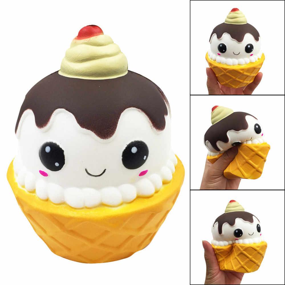 HOT! Squishy Cartoon tort czekoladowy urok powolne rośnie wycisnąć gadżety antystresowe zabawki Drop Shipping Jan3