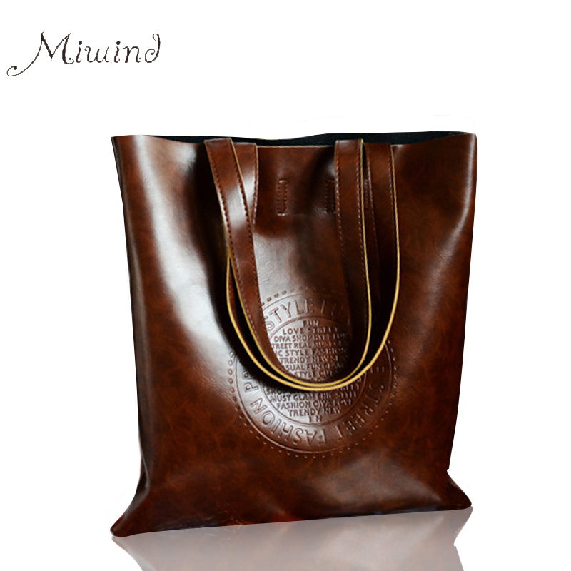 New Handbags Big Totes Vintage Pu Leather Shoulder Bags Crossbody Bags For Wome