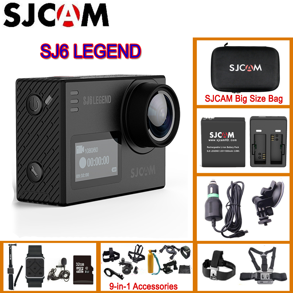 Original SJCAM SJ6 Legend 2 Touch Screen Remote Action Helmet Sports DV Camera Waterproof 4K 24FPS
