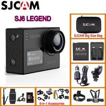 Водонепроницаемая Спортивная Экшн-камера SJCAM SJ6 Legend с сенсорным экраном 2 дюйма, на шлем, 4K, 24 кадра в секунду, NTK96660 RAW, двойной экран