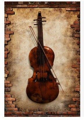 Bar Decorative Wrought Iron Wall Hangings Hanging Furniture Musical Instruments Saxophone Violin Decoration