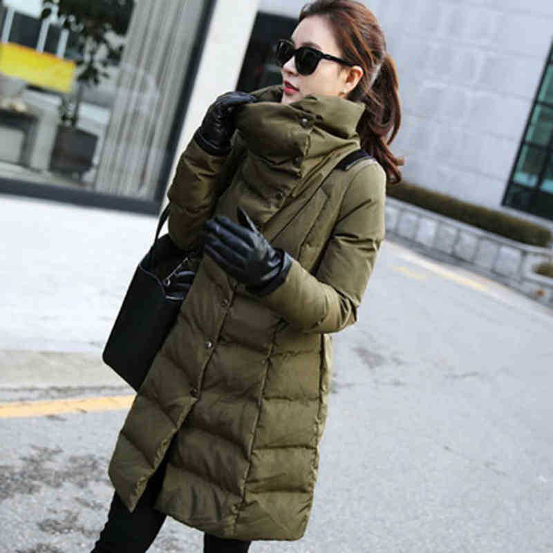 Épaisse Femmes Section Veste Pu Mode Black Nouveau Cuir 2xl La Plus De Solide En C552 Longue Coton Coutures Green Chaud Taille Couleur Manteau Rembourré army D'hiver qqwXOI