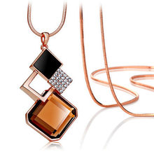 2016 Fashion Crystal Pendant Long Necklace Female Winter Sweater Chain All-match Accessories