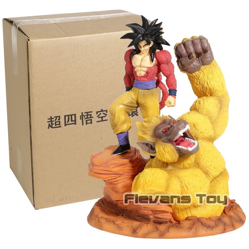 Dragon Ball Супер Saiyan 4 Золото большой обезьяны Сон Гоку Вегета Fit сцены статуя ПВХ фигурку Коллекция Модель игрушки