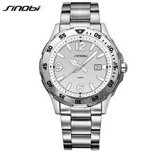 SINOBI 9509 2017 Luxury Brand Sport Men Watches Fashion Charm Men Full Steel waterproof Quartz Wrist Watch Relogio Masculino L79