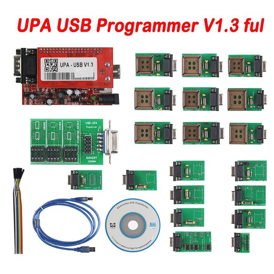 2019 Новое поступление УПА Usb программист V 1,3 диагностический инструмент UPA-USB автомобиля ЭКЮ программист УПА USB V1.3 с полной адаптер в наличии