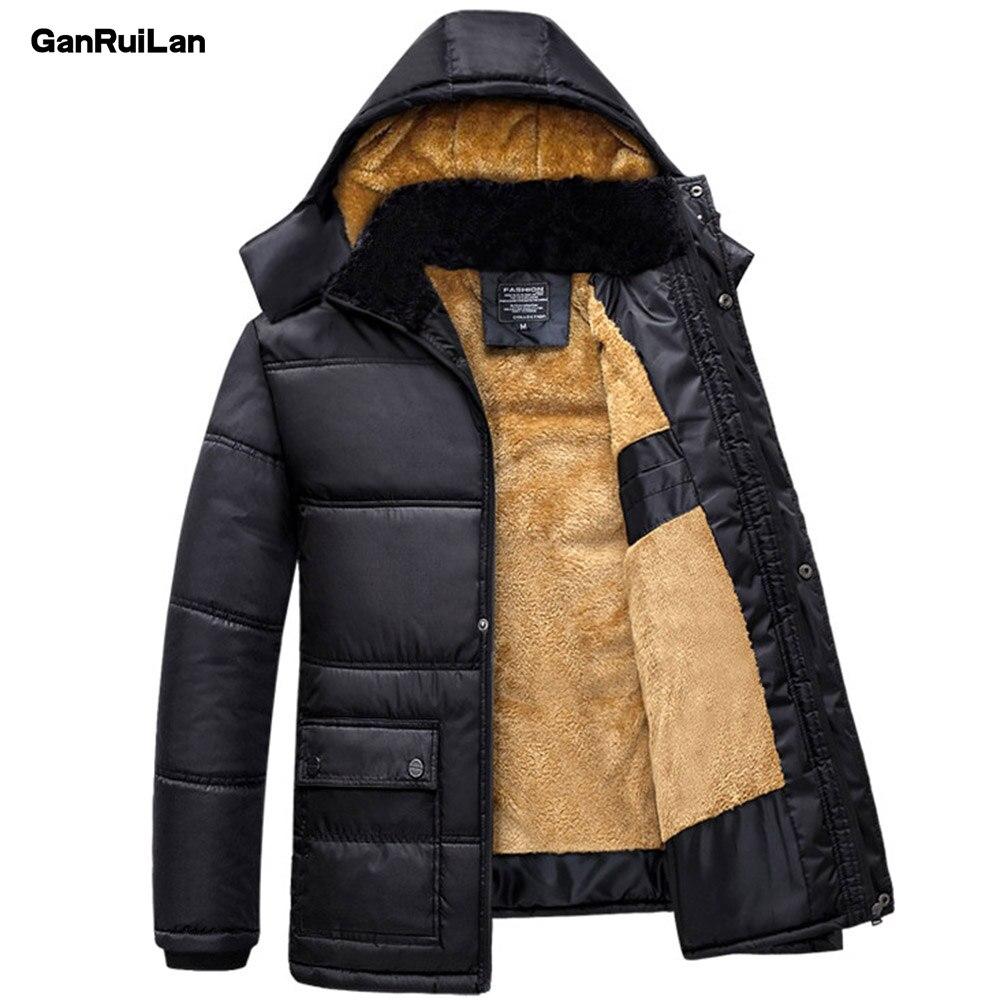 2019 Hommes vestes d'hiver Parkas Neige Manteaux Capuchon De Fourrure Mâle manteau chaud hauts Imperméable Coupe-Vent Outwear Marque Vêtements JK18046
