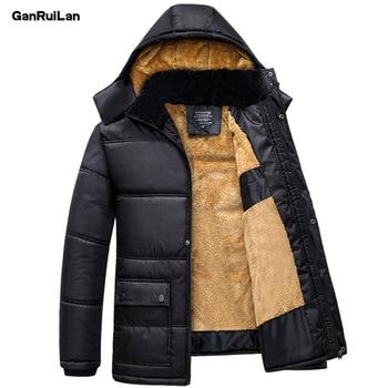 0d038714902cc 2019 de los hombres de invierno chaquetas de nieve abrigos de piel Hombre  cálido abrigo Tops impermeable viento Outwear ropa de marca JK18046