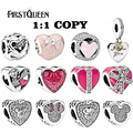 FirstQueen 2017 Valentine's Day 925 Sterling Silver Love Beads Charms Fit For Original Bracelets