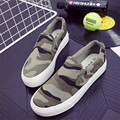 women camouflage canvas shoes high platform loafers shoes plimsolls woman fashion shoes brand slip on flats moccasines XK012102