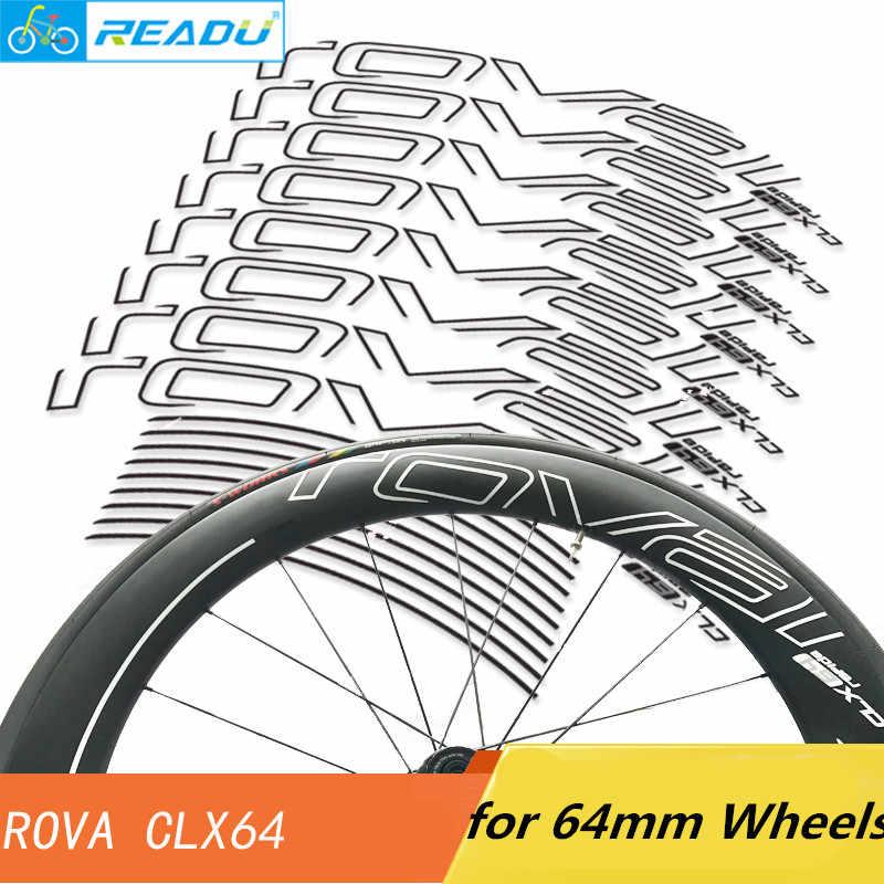 Autocollants de roue de vélo de route ROVAL CLX64 autocollants de roue 64mm roues de vélo de route pneu autocollants de roues de freinage basalte