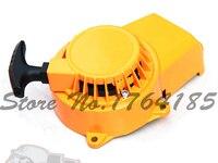 Amarelo puxar partida alumínio refrigerado a ar 2 tempos 49cc mini pocket bike ATV sujeira de peças de reposição