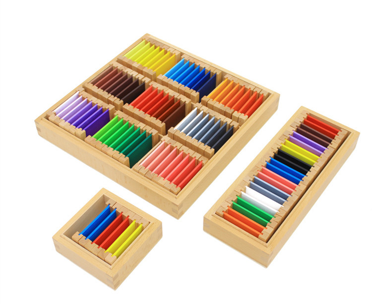 Baby Toys Swatches Montessori Wooden Toys Baby Color Developing Early Learning Infant Educational Gift Montessori Set kids wooden toys child abacus counting beads maths learning educational toy math toys gift 1 set montessori educational toy