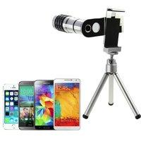 Telephoto Zoom Lens 12X Optical Telescope Lente Objective Camera Phone Photo Lens For Samsung Galaxy S5 Neo S6 Edge +/Smartphone