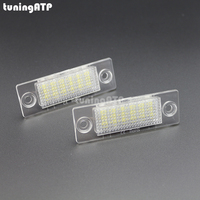 2x LED License Plate Lights For VW Caddy 3 Golf 5 Plus Jetta 5 Passat B5
