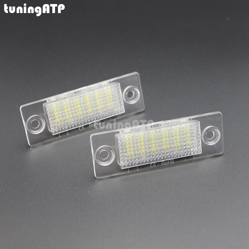 LED License Plate Lights for VW Caddy 3 / Golf 5 Plus / Jetta 5 / Passat B5.5 Sedan / Passat B6 Wagon / Touran / Transporter T5 new led license number plate lights for vw t5 passat 3c b6 caddy touran jetta golf plus no error