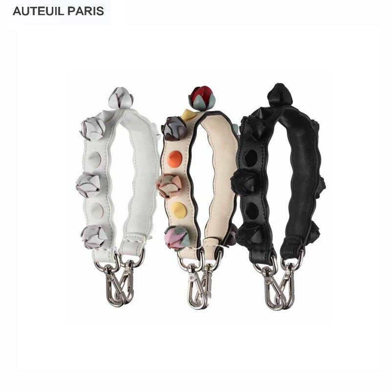 AUTEUIL Strap You Short Shoulder  In Leather With Flowers Women Bag parts accessories diy Ladies Mini  Fashion ES001-5 Hot Sale