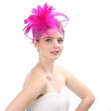 Vendimia 6 colores elección Boutique tocado nupcial neto pluma partido  sombrero para mujer velo tocados tocado boda favores bc599e772e7