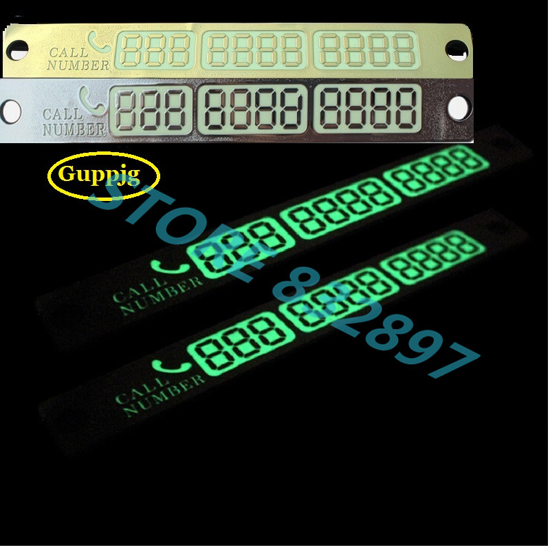 100 pcs lot Night Light Temporary Car Parking card Telephone Number Notification plate Styling Phone Number