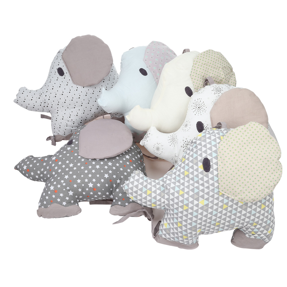 6 pièces bébé lit pare-chocs confortable combinaison dossier coussin éléphant berceau pare-chocs enfants lit autour Protection Pad bébé jouet