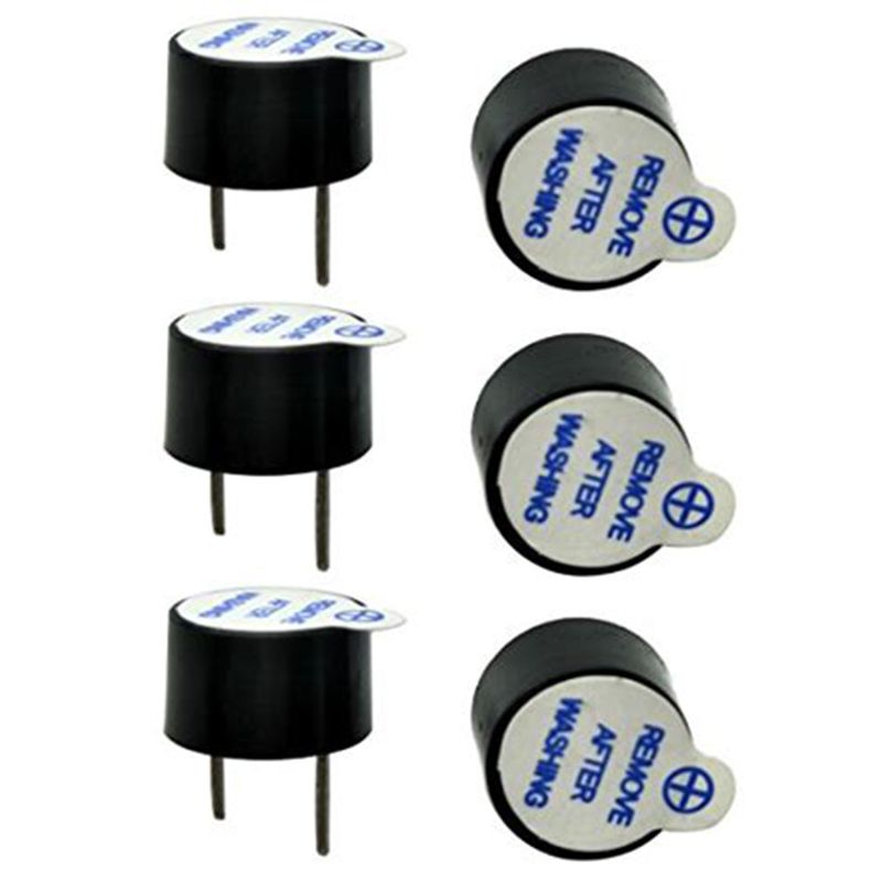 10pcs/set 5V Active Buzzer Kit Magnetic Long Continous Beep Tone Alarm Ringer 12mm Mini Active Piezo Buzzers Fit For Arduino Diy