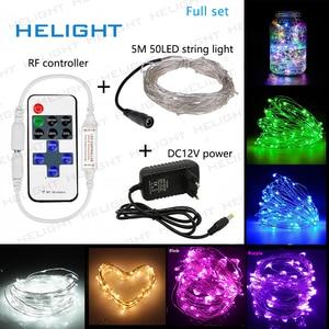Image 1 - DC12V LED dize işık peri işık 5M50LED + denetleyici + güç tatil parti düğün ve bahçe dekorasyon ışık su geçirmez esnek