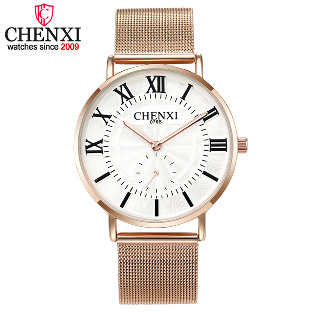 CHENXI Luxury Women's Watches Lover Wristwatches Men and Women Quartz-watch Rose