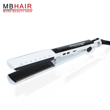 High quality professional Nano Titanium Ceramic Hair Straightener Iron adjust temperature wet and dry White Free shipping