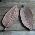 В японском стиле деревянный поддон черные листья грецкого ореха ручной работы фруктовые закуски бревна Творческий Блюдо Поднос качество с...