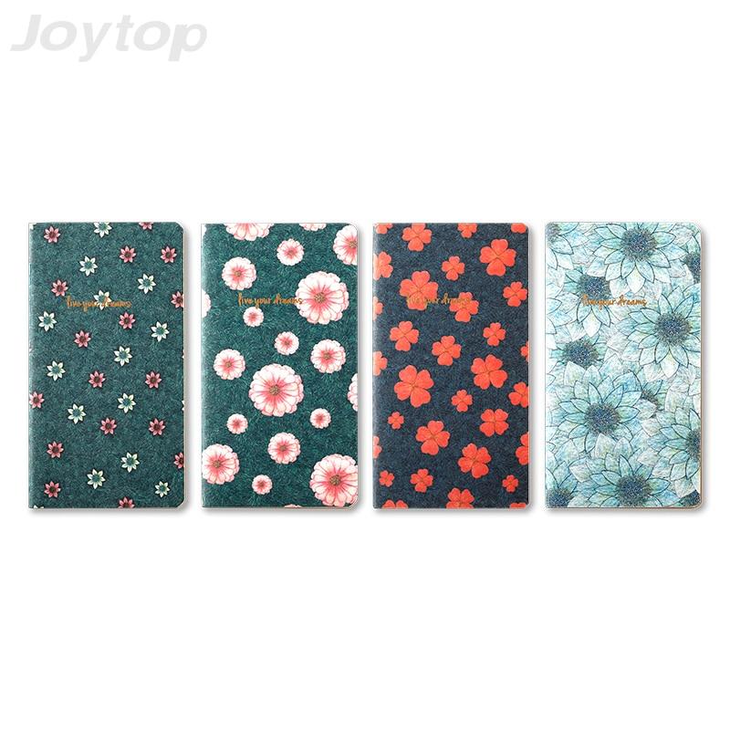 Joytop A5 Flower pattern Notebook Literary landscape Stationery Vintage Pastel Drawing Pockets Notepad Lovely Live Your Dreams