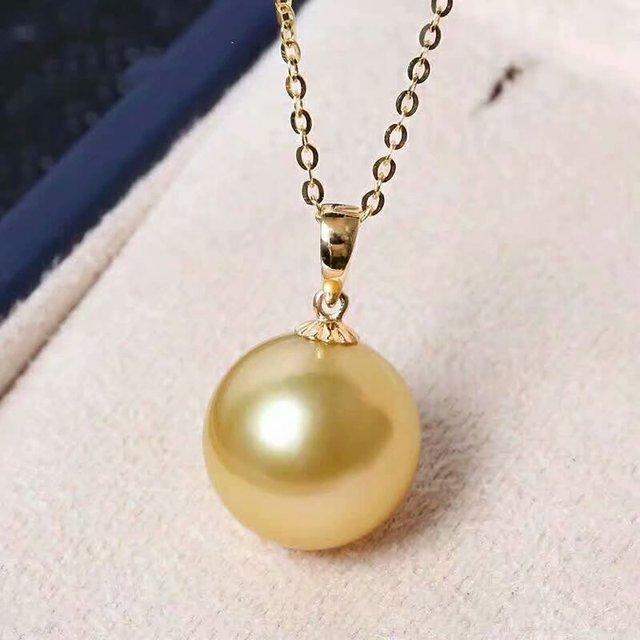 shilovem 18k yellow gold Natural  pearls pendants fine Jewelry women trendy no necklace  gift yzz9-1099zz 5