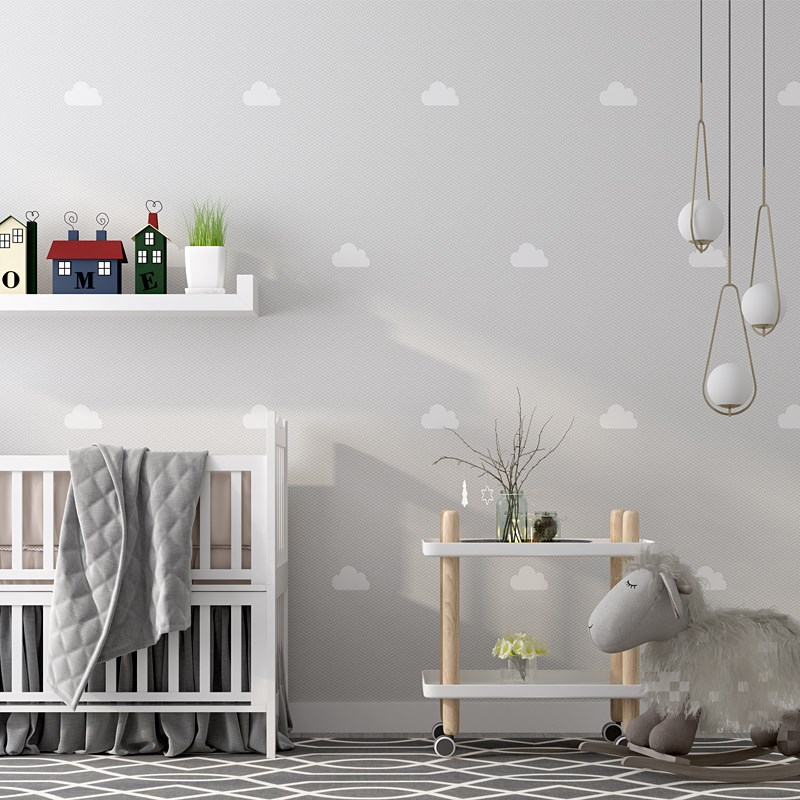 Nordic Ins Sky Cloud Wallpaper For Children Bedroom Pink Blue Cartoon Wallpaper Roll For Kids Boy Girls Walls Papel Pintado