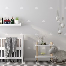 Обои в скандинавском стиле Ins Sky Cloud для детской спальни, розовые, синие, Мультяшные обои в рулоне для детей, стен для мальчиков и девочек, Papel Pintado