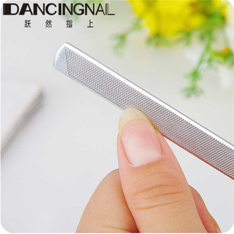 1Pcs New Professional Stainless Steel Double sided Foot Toe Nail Art File Buffer Sandpaper Pedicure Manicure Polishing Tool-in Nail Files & Buffers from ...