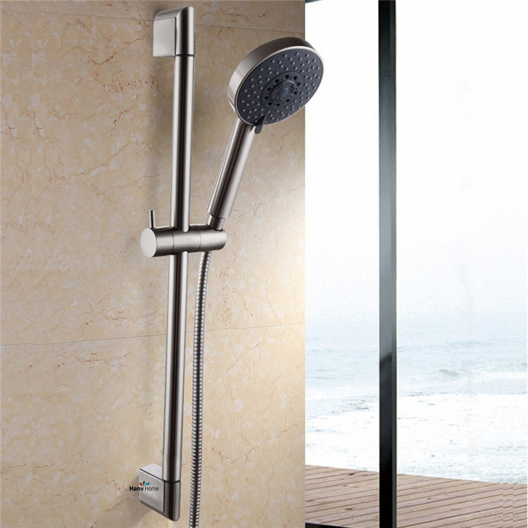 22mm ABS Chrome Shower Rail Head Slider Holder Adjustable Bracket ...