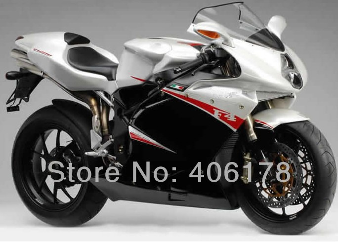 Hot Sales,Customized F4 fairing For MV Agusta F4 RR 312 1079 1000 2005-2006 White and Black Motorcycle Fairings