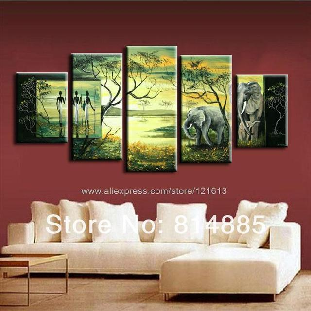 Attrayant The African Impression Modern Landscape Wall Art Hand Painted Wall Art Wall Paintings  Bathroom Background Abstract