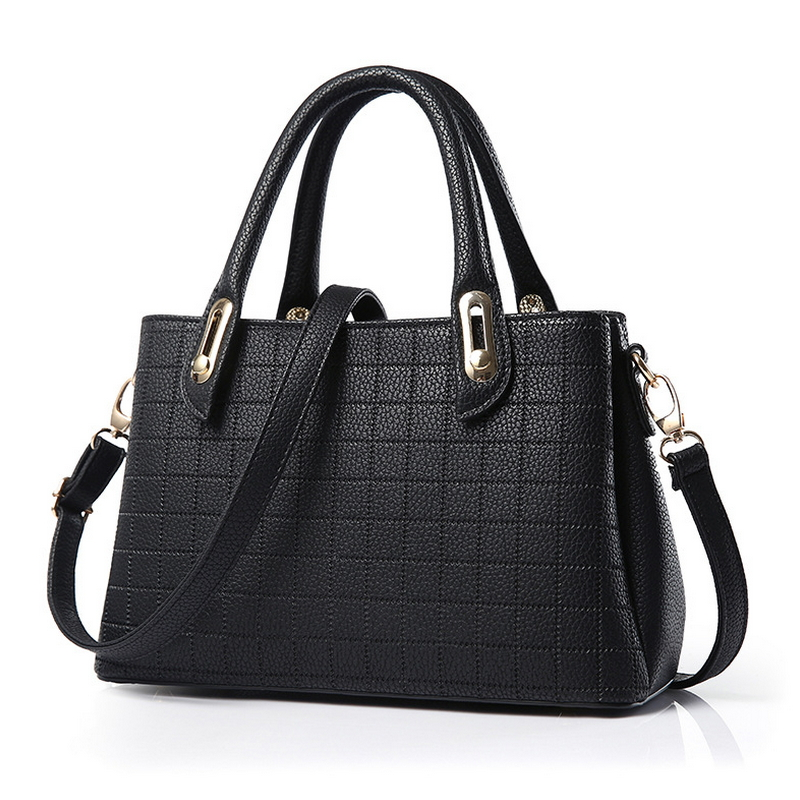 European and American minimalist fashion women bag 2017 new handbag women messenger bags embossed checkered