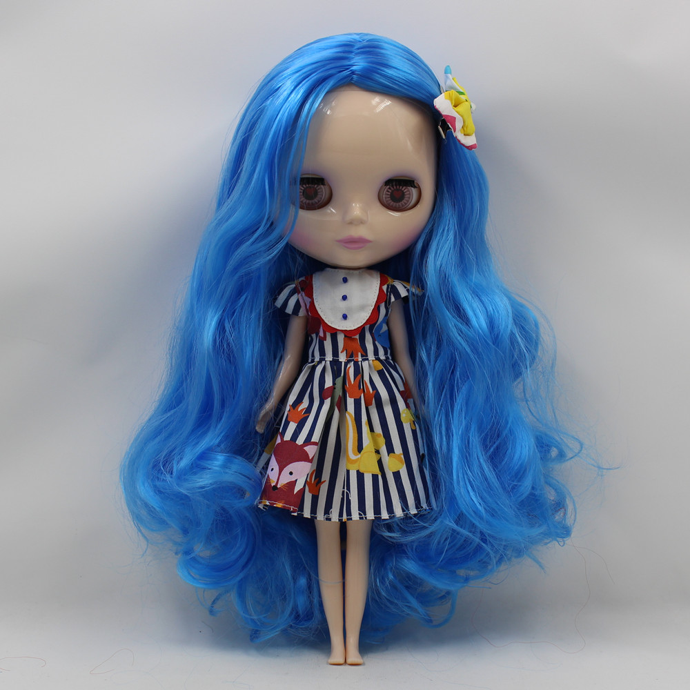 Nude Doll For Series No .260BL6208 BLUE Long hair white skin Suitable For DIY Change BJD Toy For Girls