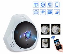 Security Camera 360 Indoor HD WiFi IP Camera Wireless Video Surveillance for Home Security Night Vision e-PTZ Fisheye Panoramic(China)