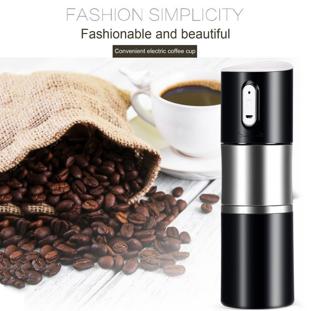 Portable Size Rechargeable Automatic Electric Coffee Maker USB Charging Stainless Steel Cup Coffee Machine Bottle Dropshipping household fully automatic coffee maker cup portable mini burr coffee makers cup usb rechargeable capsule coffee machine